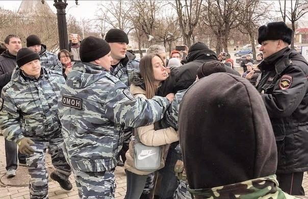 Заержание Артёма на митинге 26 марта 2017